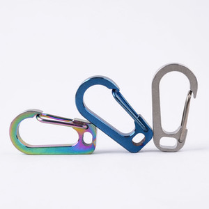 Wholesale Titanium Alloy Fast Buckle Keychain Locking Carabiner Hook Quick Release Clip Camping Climbing Accessories QW6992