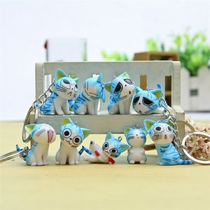 Comic Doll Key Ring Little Cheese Cat Sweet Home Cats Key Chain Originality Key Buckle Wedding Favors Party Gifts 1 3lz gg