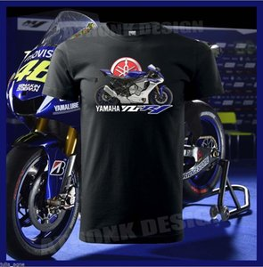 BLUE YAMAHA YZF-R1 SUPERSPORT MOTORCYCLE T-SHIRT YAMAHA YZF-R1 TEE SHIRT Short Sleeve Fashion Summer Printing Casual