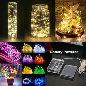Wholesale holiday lighting for sale - Group buy 1M M M M M LED String Lights Battery operation LED Copper Wire Decoration Starry Fairy Light Holiday Wedding Light