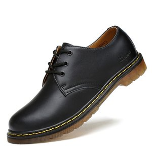 Wholesale Casual Shoes Luxury Genuine Leather Men Shoes Brogue Lace Up Platform Fashion Man Flats Casual Male Shoes Black Brown Red Plus Size