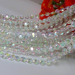 Wholesale Acrylic Colorful Crystal Beads String Chain Beautiful Garland Strands for Christmas Tree Hanging Wedding Party Decorations
