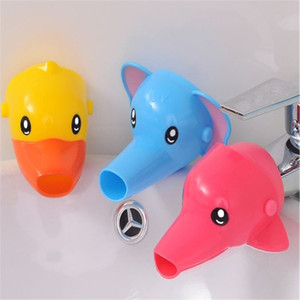 Wholesale Baby Wash Hands Auxiliary Device Cartoon Elephant Duck Children Faucet Extender Animal Modelling Bathroom Sink Faucets 3 55bs Ww