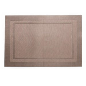 Wholesale Heat-resistant Placemats Washable Anti-skid PVC Vinyl Stain Resistant Table Mats for Dining Room Kitchen Home