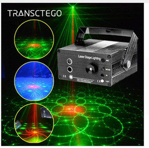 Mini DJ Laser stage light Full Color 96 RGB Patterns projector Blue Dance LED Laser Projector Stage Effect Lighting for Disco Xmas Party