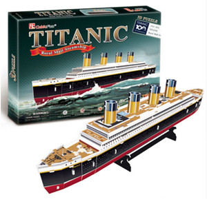 Wholesale 3D Puzzles Titanic ship DIY Paper Model kids Creative gifts Children Educational toys Ordinary version