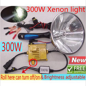 Brightness Adjustable 300W HID Xenon HandHeld Spotlight Driving Light Hunting Camping Fishing Lamp 18cm 7inch FREE SHIPPING