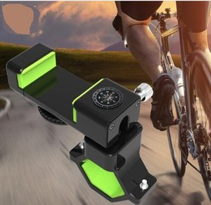 Universal Guide Bike Holder LED Light Handlebar Mount Stand For iPhone Samsung 360 Rotate Mobile Cell Phone Bicycle Holder