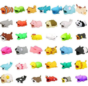 Wholesale Cute Animal Bite USB Lighting Charger Data Protection Cover Mini Wire Protector Cable Cord Phone Accessories Creative Gifts Designs