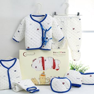 Wholesale baby clothing gift sets resale online - Winter Keep Warm Set Cotton Newborn Baby Clothing Set for Girls Boys Toddler Baby clothes New Born Gift Set Soft Cute