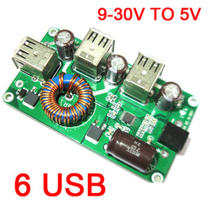 Wholesale 5v step down resale online - Freeshipping DC DC Buck Converter V V to V A USB Voltage Step Down Mobile Phone Charger POWER