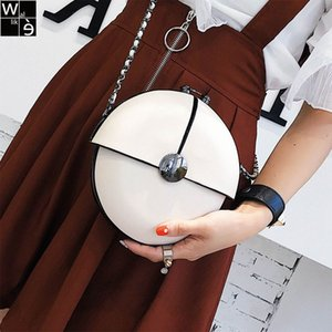 Wholesale New Fashion Brand Women Chain Bag Lady Messenger Bag Small Round Spring Summer Cute Mini Shoulder White Red Black Bags