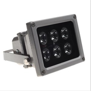 Outdoor waterproof IP65 6pcs LED Infrared Night vision illuminator Lamp with Photocell(Light Sensor) Switch Fill Light for CCTV Camera