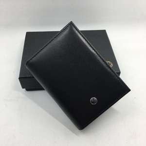 Wholesale Black Leather Credit Card Holder Wallet Classic Luxury Design ID Card Case Purse New Fashion Business Men Small Money Bag Coin Pocket