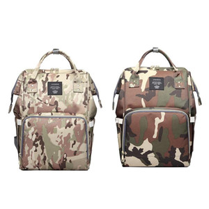 LEQUEEN Waterproof Mummy Diaper Bags Camo Print Backpack Large Capacity Baby Care Baby Bag Nappy Backpack
