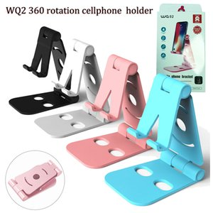 Wholesale New rotation universal cellphone holder desk cellphone mounts portable foldable ABS MINI mobile phone mounts for iphone x samsung s9