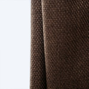 Wholesale 85 Shading Modern Style Solid Color Linen Blackout Curtain for Living Room Window Custom Made