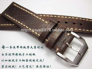 Wholesale 2019 New design High end vintage Handmade Leather Watch Band Men mm MM mm Straps for branded watch Watchband Wristband