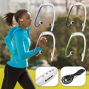 Portable Waterproof Running Sport Wireless Tf Card Headphone Mp3 Music Player With Usb Cable