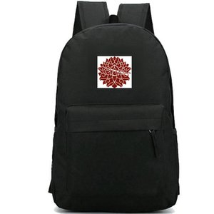 Wholesale old school backpacks resale online - Composite flowers backpack Pattern design daypack Old logo schoolbag Cool badge rucksack Sport school bag Outdoor day pack