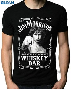 Wholesale Tee4U Hot Fashion Crew Neck Men New Style Short Sleeve Whiskey Bar Doors Logo Tee Shirt