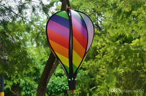 ingrosso aria facile-Arcobaleno Hot Air Balloon Paillettes Strisce di colore Garden School Decor Tide Balloons Wind Spinner Pratica Easy Carry bj cc