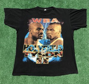 Vintage Mikett new top funny Tysontt Evandertt Holyfieldtt T Shirt Bite Fight 90s Bootleg Rap Tee Classic Quality High t-shirt