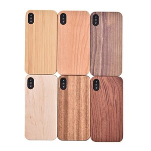 Wholesale Original Ecology Bamboo Wood Phone Cases For iPhone X Plus Shockproof wooden Hard Back Cover for Sansung S8 Note