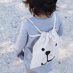 Wholesale kids backpack korean for sale - Group buy Kids Bag Korean Travel Ear Animal Smile Cartoon Backpack Girls Cute Drawstring For Home And Decor Storage Fashion Children Room Ins Akofr