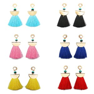 Wholesale Ethnic Style Fringed Earrings Simple Eardrop For Wedding Party Festival Gift Fashion Several Color For lady Family Jewelry Accessories