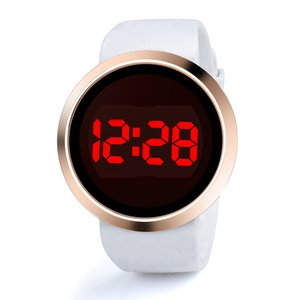 Wholesale Fashion Waterproof Casual Watch LED Touch Screen Smart Men Wristwatches Day Date Silicone Lovers Watch Mens Top Brand Luxury