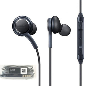 Wholesale For S8 in ear Stereo Earphone with Mic Volume Control Low Bass Noise Isolating Cell Phone Earphone Earbuds for Samsung galaxy S8 S9