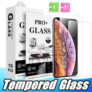 For iPhone 11 Pro Max Tempered Glass Clear Screen Protector 9H 2.5D Anti-shatter Film For Samsung J3 J7 2018 A70 2019 With Retail Package