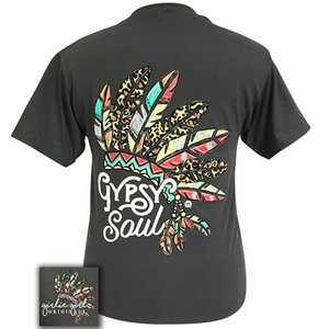 Girlie Girl Originals Gypsy Soul Cotton Short Tee Shirts Hipster O-Neck Sleeve Funny Print Clothing Hip-Tope Mans T-Shirt Tops TeesMi