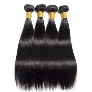 Wholesale Hot Sale Peruvian Straight Virgin Hair Weaves One Unprocessed Natural Black Virgin Remy Hair Bundles Cheap Brazilian Hair Extensions