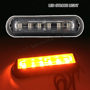 Wholesale 6inch 6W truck strobe light amber LED emergency signal flashing lamp for offroad jeep wrangler TJ JK pickup truck beacon warning light