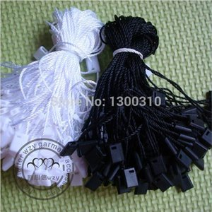 Wholesale Free shiping High quality black and waite hang tag string hang tag strings cord for garment stringing price hangtag or seal