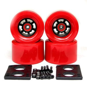 Wholesale 2018 New Top Longboard Wheels Electric Skateboard A mm Wheels ABEC Bearings Bushings Hardware Gasket Skateboard Parts