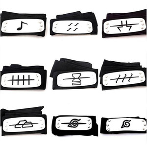 Wholesale PrettyBaby ANIME Naruto Headband cm Leaf Village Logo Konoha Kakashi Akatsuki Members Cosplay Costume Accessories blue red black in stock