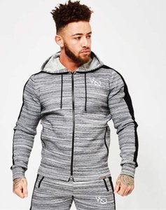 Cool!New Men Gym Clothes wholesale Long-sleeved cheap Breathable Quick-dry Zipper long sleeve vest Running suit