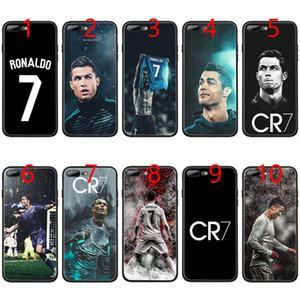 Cristiano Ronaldo CR7 Soft Black TPU Phone Case for iPhone XS Max XR 6 6s 7 8 Plus 5 5s SE Cover