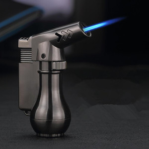 Mini Spray Gun Compact Butane Jet Lighter Torch Turbo Lighter 1300 C Flated Windproof Metal Jet Lighter NO GAS