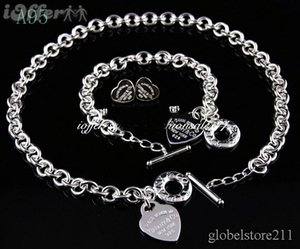 3a2401828eb Wholesale SALE 2018 New Designer Brand New Fashion tiffany925 Silver Jewelry  Necklaces and Bracelets + Earrings