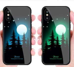 Wholesale New Design Glass TPU PC material cell phone case mobile back cover protective case for Iphone XS XR X more colors option