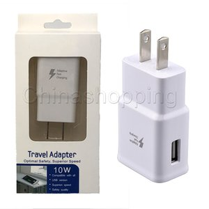Wholesale Fast charger V A Eu US Plug Usb Wall Travel Charger Adapter Universal Home Travel USB Charger For Note S8 S9 S7