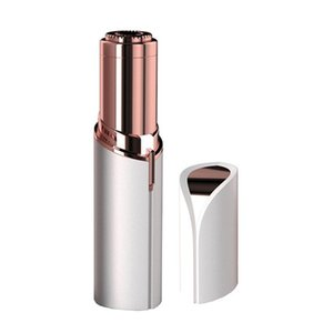 Wholesale HR006 Lipstick Facial Hair Removal for Women Painless Women s Face Electric Shaver Bikini Trimmer Light Hair Remover Epilator