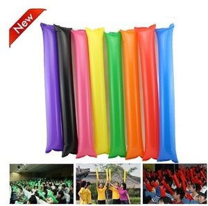 Wholesale cheap plastic multicolour inflatable Balloon sticks clappers cheering sticks toy Can Print your own logo