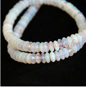 """1Strand 16""""(130pcs)Natural stone """"white Opal""""Rondelle Beads 6mm*3mm (w03031)Free Shipping"""