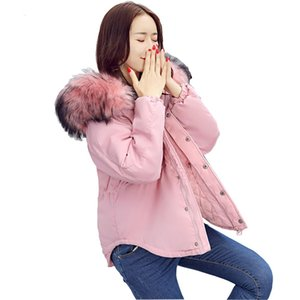 New women's cotton padded winter jacket cotton slim hooded cotton feather female