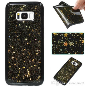 Wholesale Shiny Stars Cellphone Cases Soft Dirt Resistant TPU Covers For Iphone x s Plus Samsung S8 Plus Note8 S7 Edge Huawei P10 Lite Oppbag